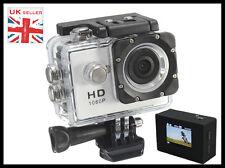 IMPERMEABILE SPORT ACTION HD Cam Videocamera 1080P + SCHERMO LCD + Grandangolo LENS