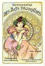 """Mucha 1976 Authentic Vintage Art Nouveau Print """"ACCADEMIA des Arts decoratifs"""