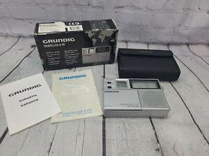 Vintage Grundig Traveller II PE 7 Band Travel Shortwave Radio w/ Case TR2PE