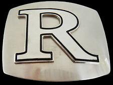 Initial 3d Letter R Symbol Chrome Name Tag Belt Buckle Boucle de Ceinture
