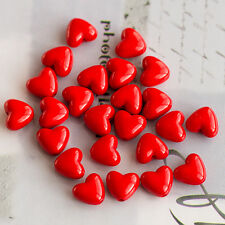 20pcs Red Love Heart Acrylic/Plastic Charm Beads (11x10mm)