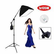 135W Photography Studio Shooting Boom Arm Softbox Lighting Photo Light Stand Kit