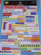 NEW 114 pc CHILDHOOD WORD FETTI Words Phrases  MAKING MEMORIES Stickers