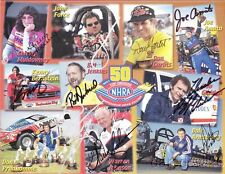 2001 NHRA Top 10 Drivers signed postcard VHTF Signed by all 10