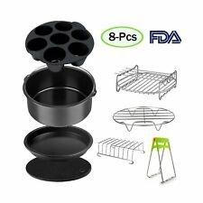 Air Fryer Accessories Set for 3.7, 5.3, 5.5, 5.8 QT,8 pieces for Gowise Phill...