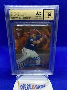 2018 Topps Chrome Update Juan Soto Orange Refractor Auto RC BGS 9.5/10 GEM #/25
