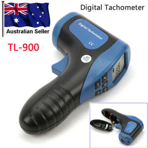 Digital Laser Tachometer - Handheld Non-Contact High Rev Range