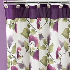 Popular Bath Jasmine Plum 70 X 72 Bathroom Fabric Shower Curtain Hook Set