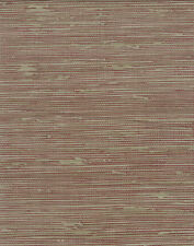 Faux Grasscloth Red & Taupe Wallpaper - NTX25774