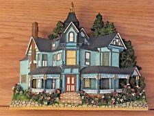 "VICTORIAN BLUE HOUSE Shelf Sitter Figure 8.25""L x 7""H resin"