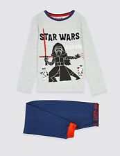 M&S Marks & Spencer Cotton Star Wars Pyjamas Age 3-4 Years NEW