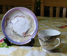 Made in Japan Hand Painted Dragon Cup and Saucer