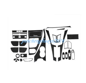 Real Carbon Fiber Style Car Interior Kit Cover Trim For Infiniti Q50 2014-2019