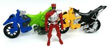 2015 Power Rangers Dino Charge Bikes Motorcycles & Red Ranger Figure Lot Clean!