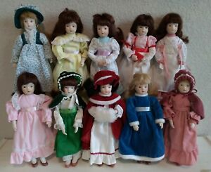 """Russ Months to Remember Porcelain 8"""" Dolls Collectible Dolls Lot of 10 Dolls"""