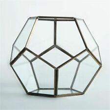 Polyhedron Glass Succulent Planter Geometric Terrarium Garden Bonsai Flower Pot