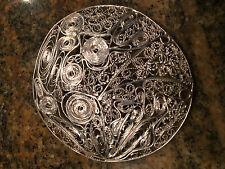 Custom Made Sterling Silver Filigree Circle Brooch