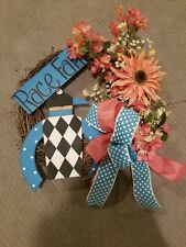 KENTUCKY DERBY WREATH KY PARTY DECORATION WOOD SIGN NEW