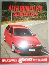 Alfa Romeo 145 Cloverleaf Perfomance Car Road Test brochure Nov 1995