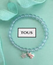 Autentic TOUS Color Elastic Calcedonia Bear Silver Bracelet