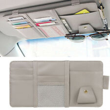 Car Sun Visor Organizer Auto Interior Pocket Sunglass Pen Holder 30x14cm Gray US
