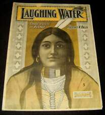 LAUGHING WATER 1903 INDIAN MAIDEN ART & MUSIC SHEET * FREDERICK W HAGER