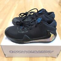 Nike Zoom Freak 1 Mens Size 5.5 Men Youth GS Black Iridescent Giannis