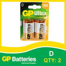Tarjeta De Batería Alcalina D Gp Ultra de 2 [MP3, Cámaras Consolas De Juegos + Otros]