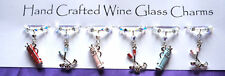 Golf Themed Wine Glass Charms - Christmas Gifts - Stocking Fillers