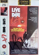 WILLEM DAFOE , GENUINE AUTOGRAPH ON 'TO LIVE AND DIE IN LA' VIDEO SLEEVE.