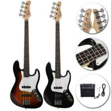 Glarry Black Sunset Practice Right Handed 4 Strings Electric Guitar Bass w/ AMP