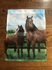 Mare And Foal Small Garden Flag- New!