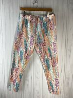 Soft Surroundings Women's Size Large Have to Have Printed Leggings Pastel EUC