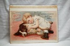 Repro Ad 1892 Fragrant Perfumed Hoyt's German Cologne Advertising Ad Girl w Dog
