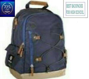Clearance Sale blue backpack High School Travel Laptop Rucksack Zipper Bag NEW