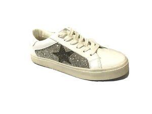 Steve Madden Womens Philip-R Sneaker, White, Size 6M - NWOB