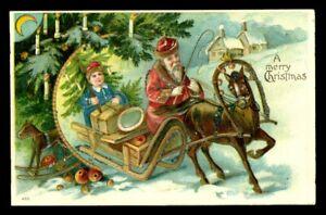 Vintage SANTA Postcard 1910s A MERRY CHRISTMAS Germany