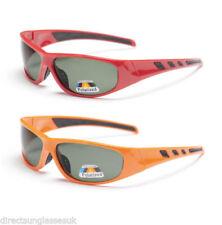 Occhiali da sole da uomo sport con montatura in rosso con tecnologia lenti antiriflesso