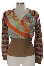 Christian Lacroix Bazar Pullover M Top bunt mit Muster haut