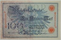 1908 100 (Ein Hundert) Mark Reichsbanknote Germany SN#0888166F CU/UNC   (073118)