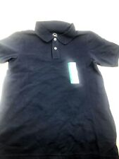 Size Large 10/12 Boys School uniform Shirt Navy Blue Stretch Shrink Resistant