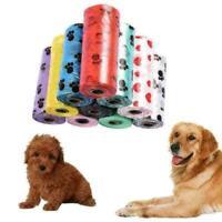 10 Rolle Abbaubar Pet Waste Poop Taschen Hund Katze Aufräumen Müllsack Nütz P9U0