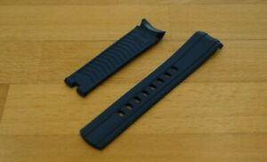 20mm RUBBER STRAP NAVY BLUE & PIN BUCKLE FOR OMEGA SEAMASTER DIVERS WATCHES
