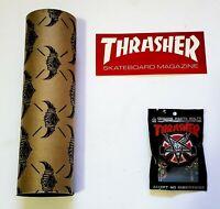 "Jessup Skateboard Griptape Independent x THRASHER Decal + 1"" Phillips bolts"