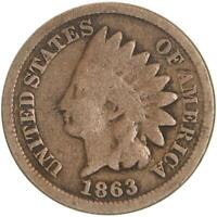 1863 Indian Head Cent Good Penny GD