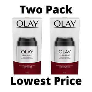 *LOT OF 2* OLAY Regenerist Deep Hydration Reg Cream, Anti-Aging Moisturizer