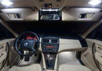 PACK BMW E83 X3 Ampoules LED blanc plafonnier sols coffre miroirs Boîte gants