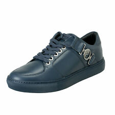 Versace Collection Men's Blue Leather Fashion Sneakers Shoes 6 7 8 9 10 11