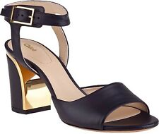 Brand New Chloe Black Leather Heeled Ankle Strapped  Shoes Sz39 Us 8 $895