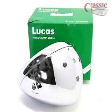 "Genuine 7"" Lucas chrome shell & rim. Aperture for 3 warning lights & 1 switch."
